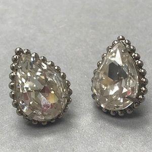 Sorrelli Gorgeous Pear Cut Clear Crystal Earrings